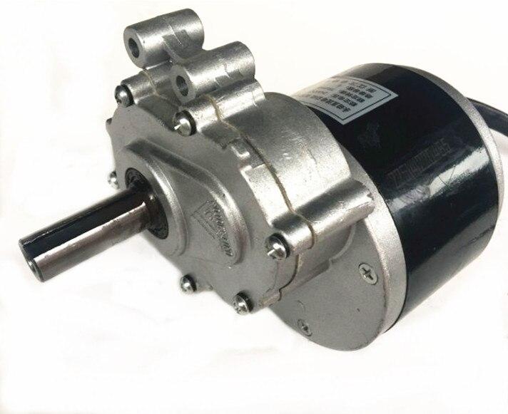 Motor de cepillo de baja velocidad de 250w, 24v, 75rpm/120rpm, eje más largo de 44mm, diámetro del eje de 17mm, silla de rueda utilizada motor cepillado de engranaje CC