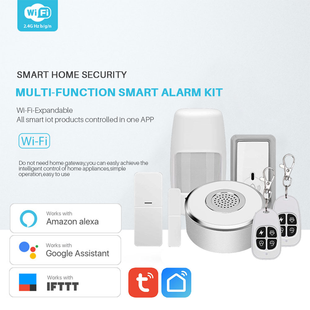Image 3 - WiFi Smart Home Security System Kit Door Window Alarm PIR Motion Sensor APP Notification Compatible With Alexa Google Home IFTTT-in Alarm System Kits from Security & Protection