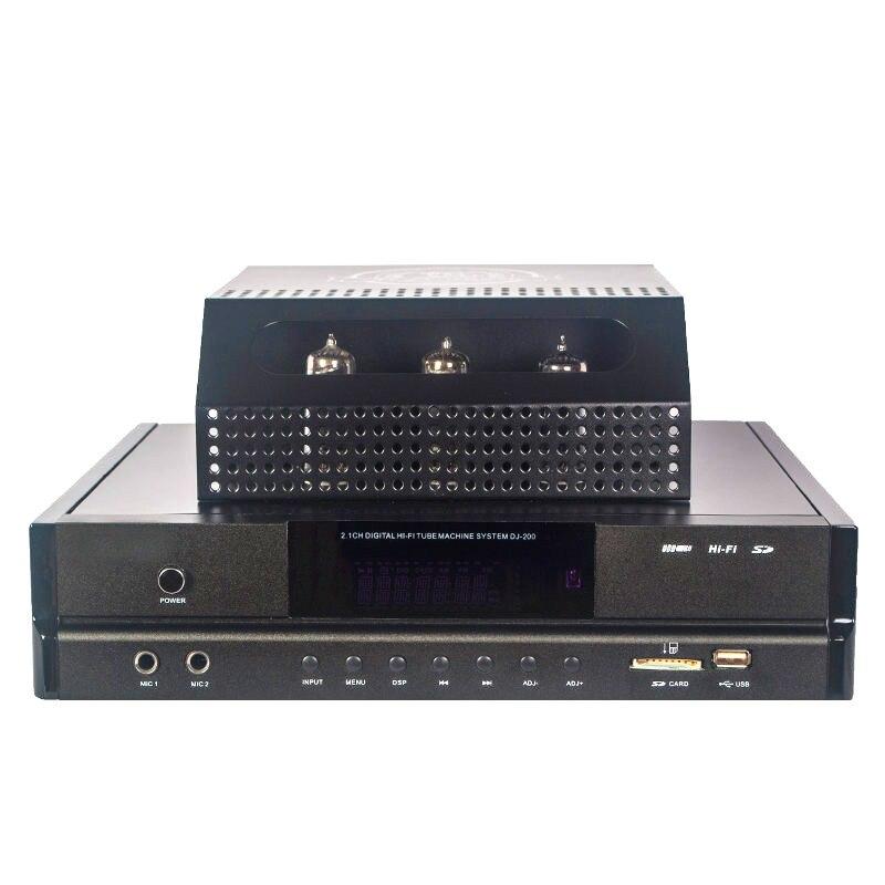 2.1 канала аудио лампового усилителя с сабвуфером Bluetooth Cara OK динамический экран полное дистанционное управление электронные трубки питания