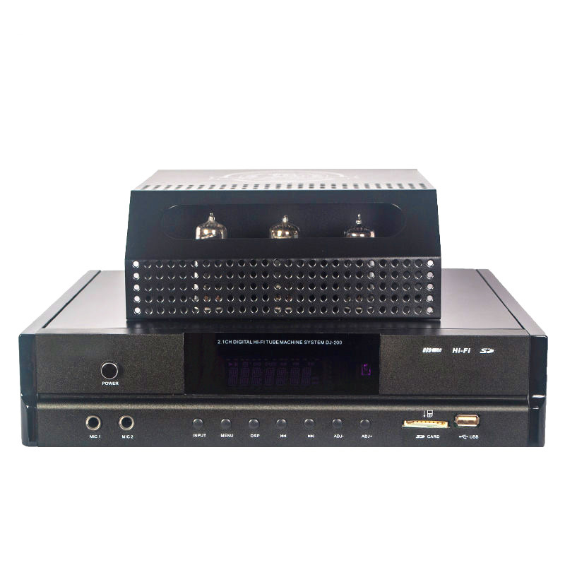 Amplificateur audio à tube 2.1 canaux avec caisson de basses Bluetooth Cara OK écran dynamique ampli de puissance à tube électronique à télécommande complète
