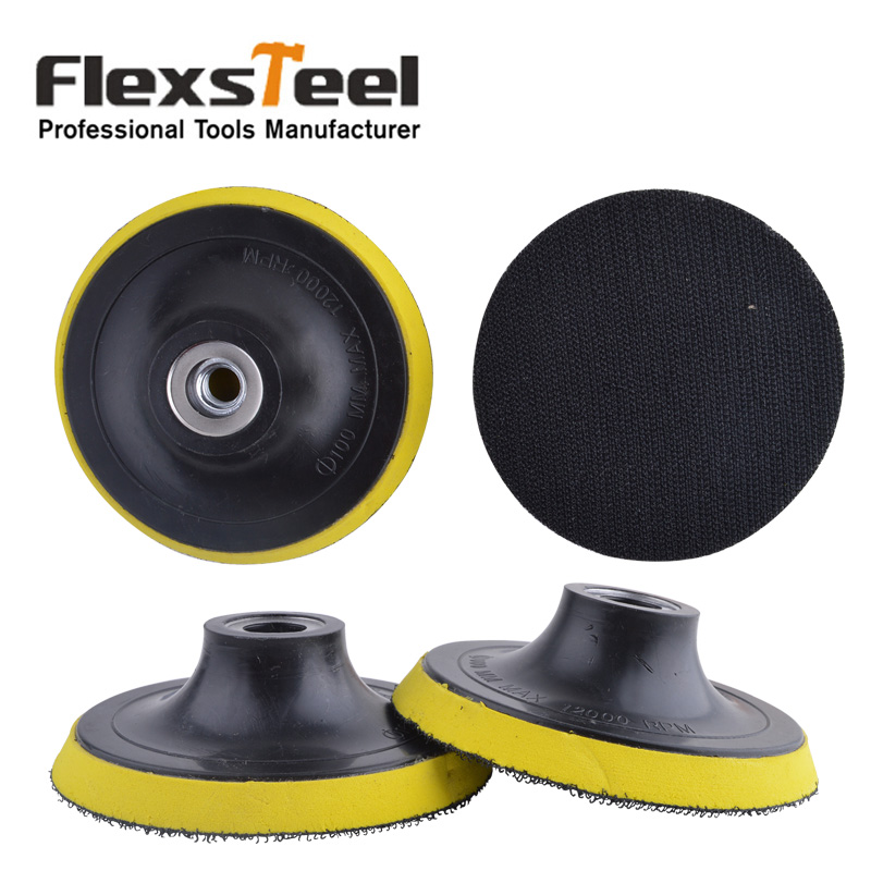 Flexsteel 2 Pieces 4 Inch 100MM Polishing Buffing Pad PU Bonnet Backing Pad for Angle Grinder ...