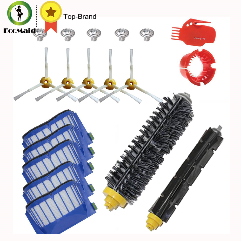 AeroVac Filter Hair Brush kit and Side Brush Cleaning Tool for iRobot Roomba 600 Series 585 595 620 Vacuum Cleaner Accessories vacuum cleaning kit attachement kit dusting dusting brush nozzle crevices tool upholster tool for 32mm