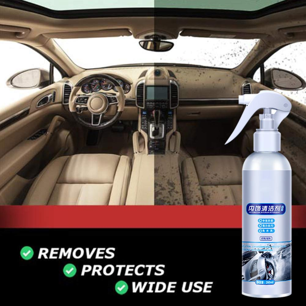 Car Interior Cleaning Agent Ceiling Cleaner Leather Flannel Woven Fabric Water-free Cleaning Agent Auto Roof Dash Cleaning Tool