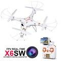 Бесплатная доставка X6sw Камеры Wifi Fpv Quadcopter Drone Вертолет с камерой C4005 профессиональных Дронов с два дополнительных батарей