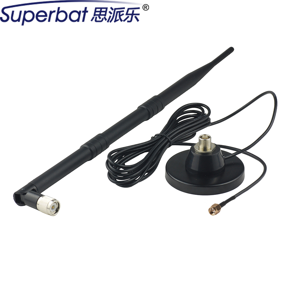 Superbat 700-2600Mhz 9dbi Aerial Signal Booster 4G LTE Antenna Magnetic Base SMA Male Plug Connector 3M Cable RG174 for Huawei