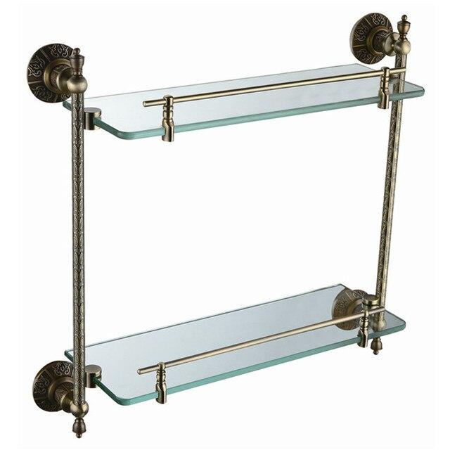 Free shipping brass glass shelf, bathroom shelf,shelves, Antique ...