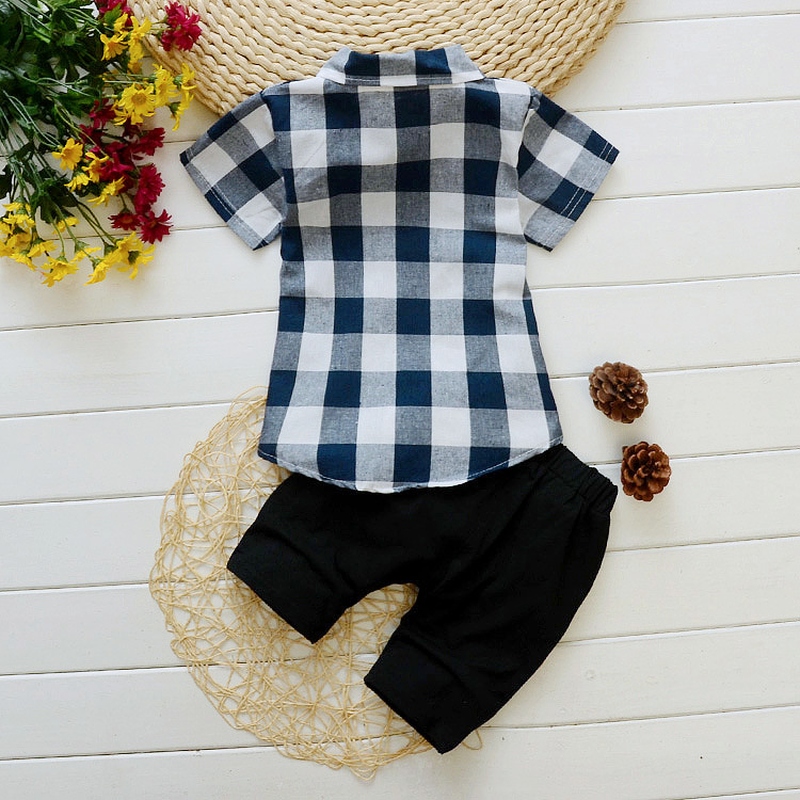 Boys 39 summer dress 2019 new children 39 s short sleeved suit baby cute children 39 s dress two sets in Clothing Sets from Mother amp Kids