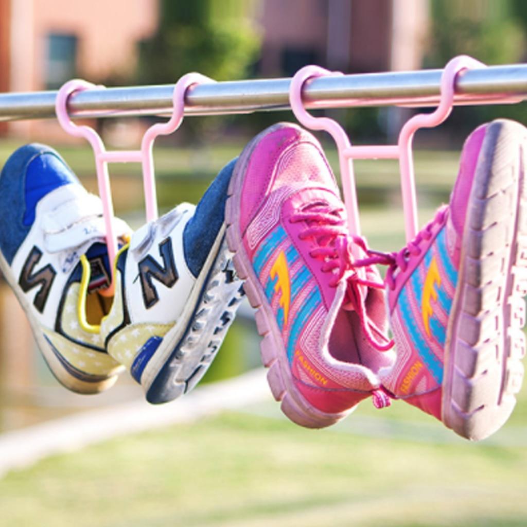 10PCS per Set Multi Function Hanging Shoe Organizer used as Drying Shoe Hanger for Hanging Kids Shoes