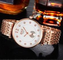 Regalos de moda reloj de cuarzo ocasional clásico viejo impermeable número luminoso