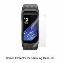 3 * Clear LCD Película DEL ANIMAL DOMÉSTICO Anti-arañazos Protector de Pantalla para el Reloj Inteligente Ordenador Samsung Engranaje Fit2