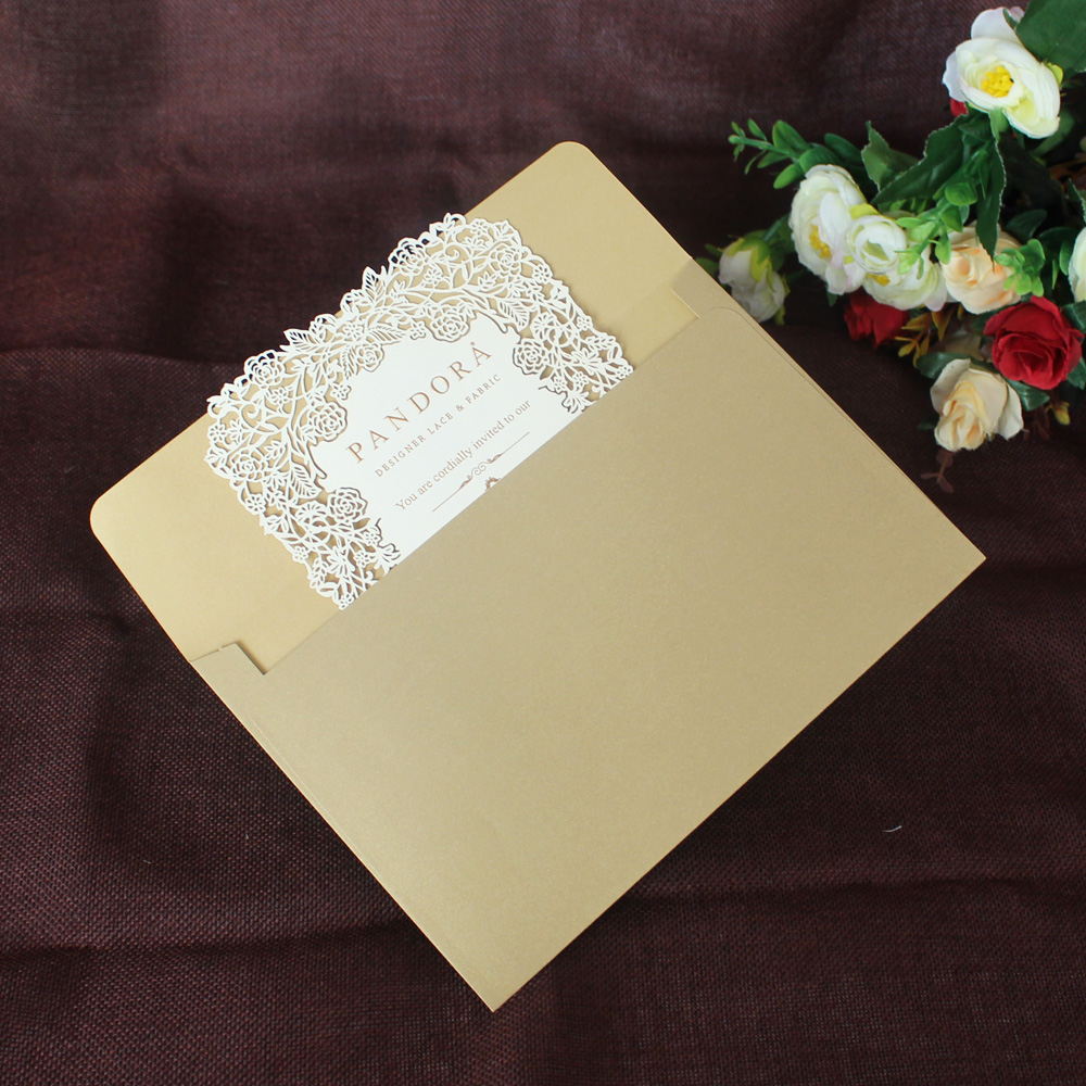 100 Piece Laser Cutting Paper Greeting Cards With Envelopehollow