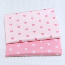 Printed Heart Twill Cotton Fabric,Patchwork Cloth,DIY Sewing Quilting Fat Quarters Material For Baby&Child