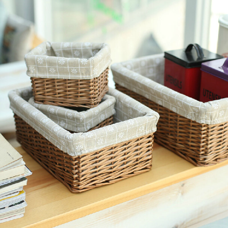 decorative rattan wicker baskets large middle small white and brown wicker baskets for laundry food clothing sundries neateningin storage baskets from home