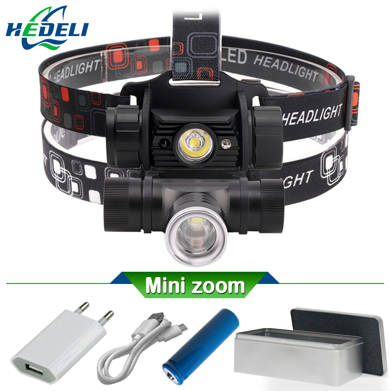 1 Mode IR Induction Xm L2 Mini Led Headlamp Headlight Camping Head Torch Led Xml T6 Rechargeable Head Lamp 18650 Head Flashlight