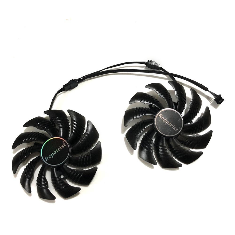 GPU Cooler T129215SU 90mm Graphics Card Fan For GeForce Gigabyte GTX1070 GV-N1070WF2OC GV-N1070WF2 WINDFORCE As Replacement