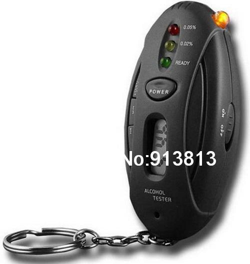 Flashlight Lot Keychain Breathalyzer with BAC and Stopwatch