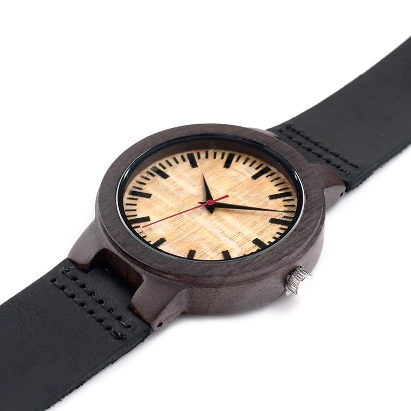 BOBO BIRD V-C23 남성 석영 손목 시계 수제 나무 시계 - 남성 시계 - 사진 5
