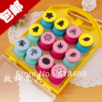 16pcs/seet 2013 latest craft paper punches scrapbooking tool embossed device flower embossed machine diy stamp paper cutting