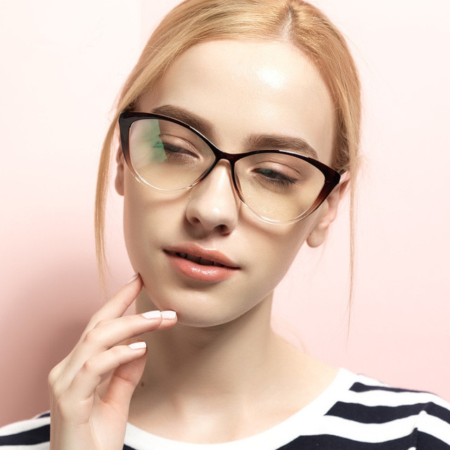 TR 90 Eyeglasses Cat Eyes Stylish Optical Glasses Frame for Women