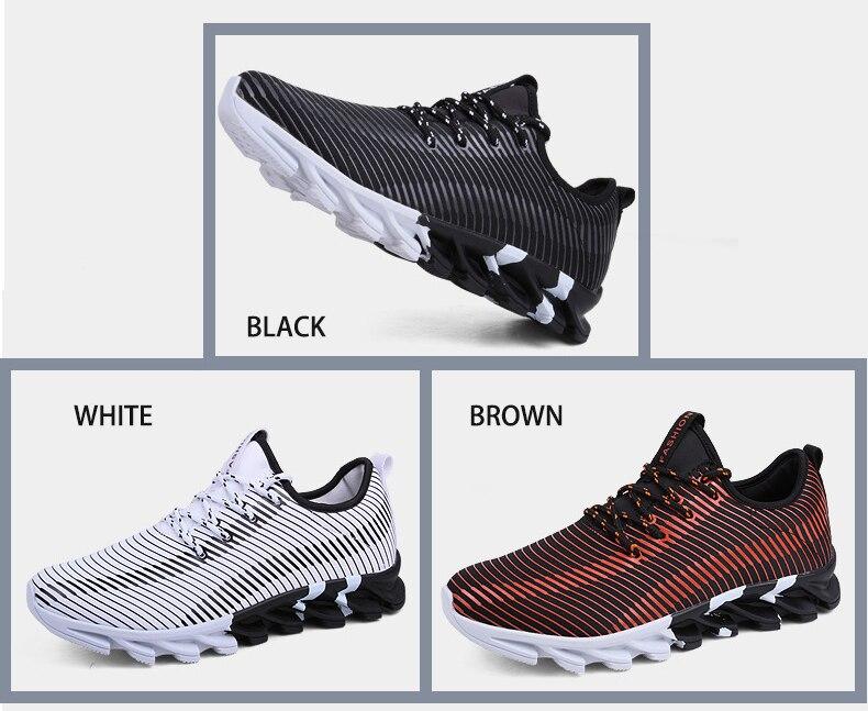 7165dc799fcc3 Nueva luz Zapatillas para correr para hombres transpirable deporte ...
