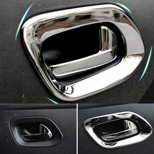 ABS Chrome For Citroen Elysee C-Elysee 2014 2015 2016 Car inner door Bowl protector frame cover trim car styling accessories стоимость