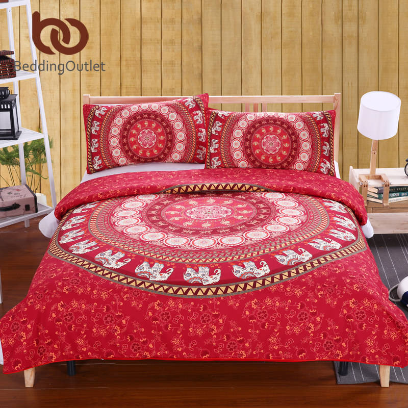 elephant bed sheet set bohemian qualified soft duvet cover and pillowcases bedding set twin full queen kingin bedding sets from home u0026 garden