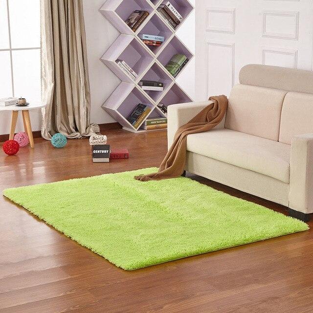 Tapete moderno Pérola-como Brilhante Cor Sólida Tapete da Sala Tapetes de Banheiro Capacho FloorMat Para Decoração de Casa