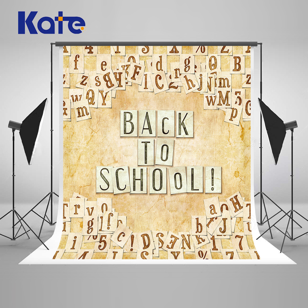 Kate Back To School Coloring By Numbers Fotografie Achtergrond Washable Photocall Backdrop Letter Wood Backgrounds Photo Studio