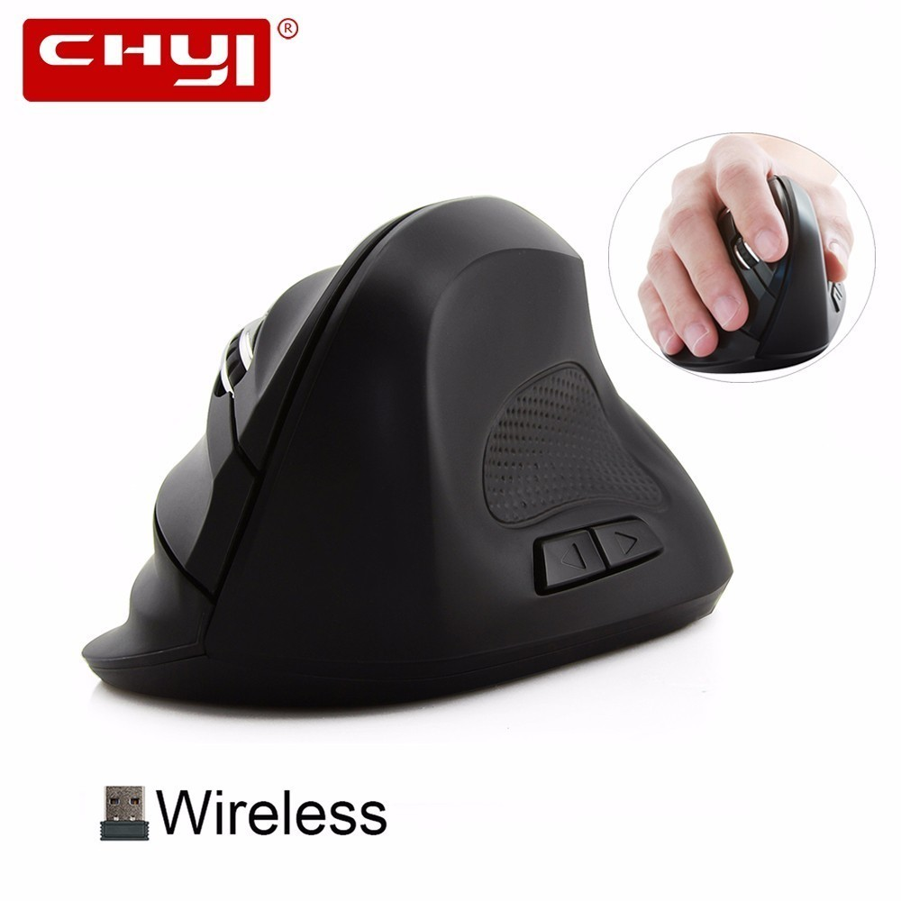 CHYI Wireless Mouse Ergonomic Vertical Gaming Mouse Optical Gamer 2.4Ghz Sem Fio Big Healthy Mice for PC Computer Laptop