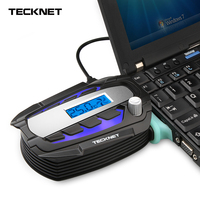 TeckNet Portable Notebook Laptop Cooler USB Fan Cooling Air Cooler Speed Adjustable With LCD Temperature Display