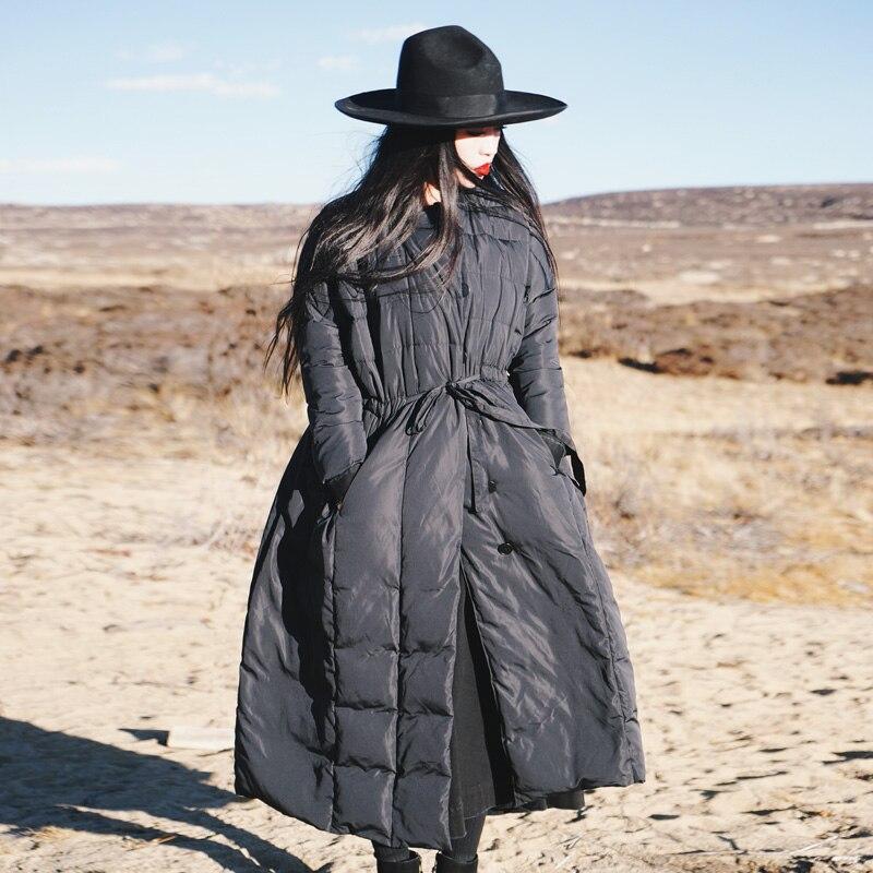 Магазин Джессики оригинальный дизайн женская короткая Зимняя Повседневная Свободная теплая 100% белая утка вниз X-Long черная юбка стиль пухов...