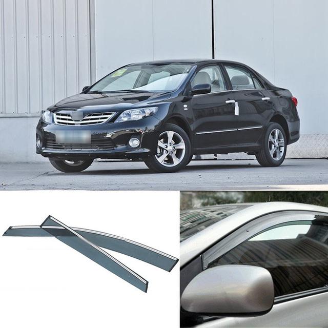 Novas 4 pcs Lâmina Lateral Do Windows Defletores Porta Viseira Protetor Para A Toyota Carolla