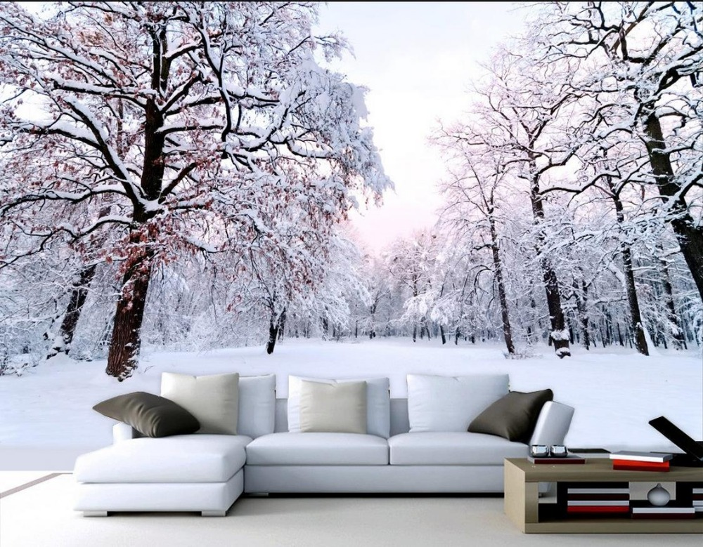 Buy 3d mural wallpaper photo wallpaper for Winter wall murals