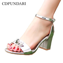 34c2ae9f549 CDPUNDARI Ladies Big Size High heel Sandals Women summer shoes woman  chaussures femme ete 2018 sandalias