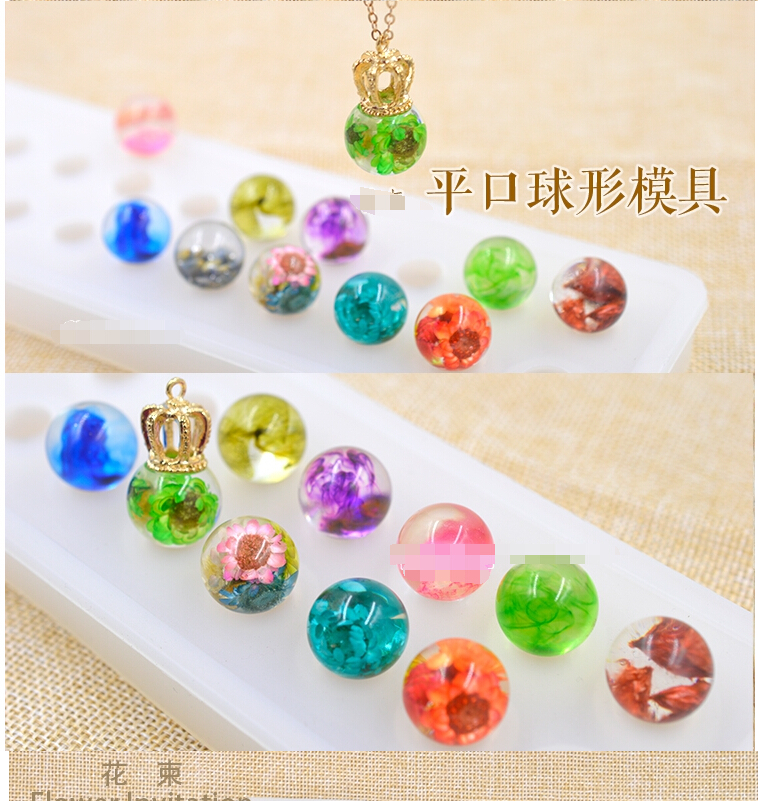 Necklace pendent Silicone Mould DIY Resin Decorative Craft Jewelry Making Mold D