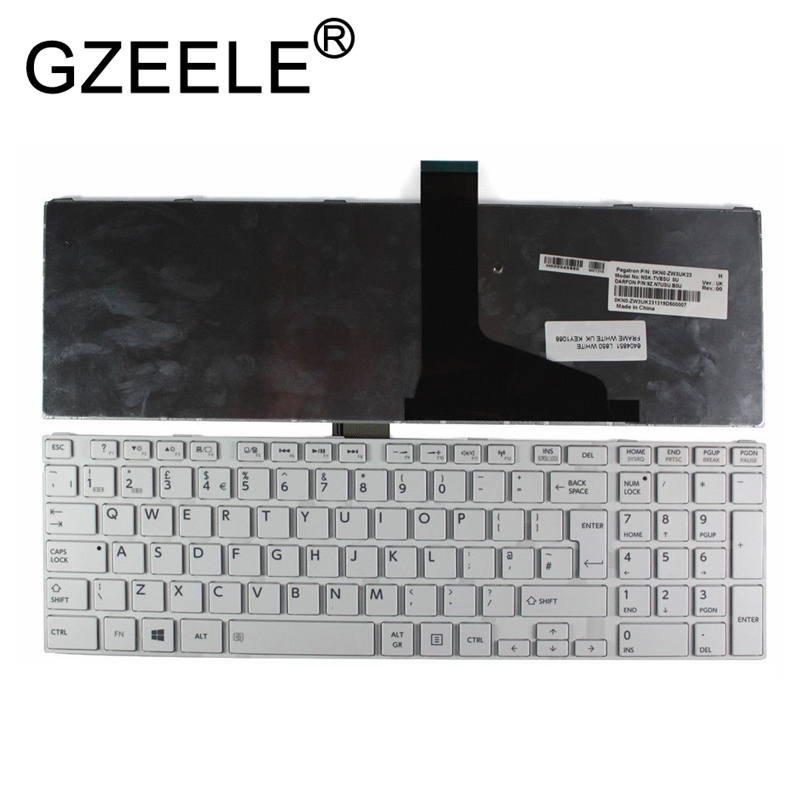 GZEELE UK (GB) Keyboard for Toshiba Satellite Pro C850 C855D C850D C855 C870 C870D C875 L875 L850 L850D L855 L855D L870 L950 NEW image