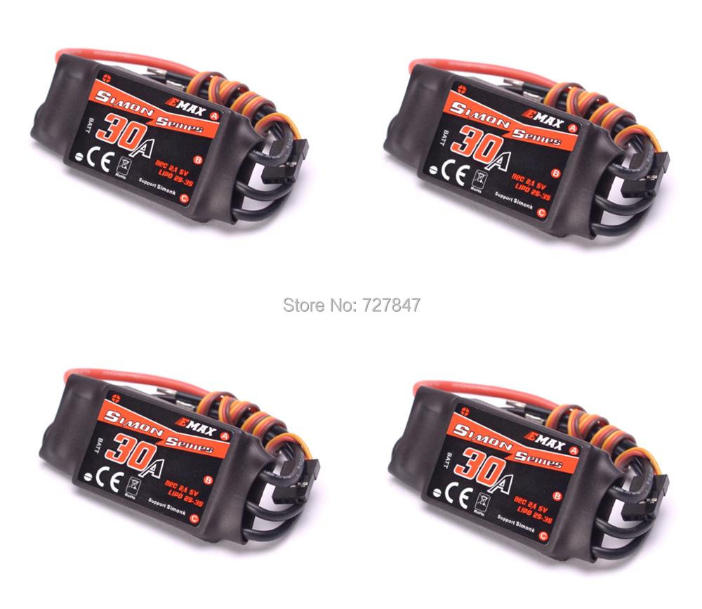 4pcs/lot Emax Simonk Series 30A ESC For Quadcopter QAV250 for F450 F500 <font><b>F550</b></font> RC Multicopter Quadcopter Wholesale