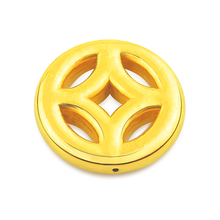 New Arrival Solid 24K Yellow Gold Bracelet 999 Gold Coin Bracelet 0.47g new authentic 24k 999 yellow gold pendant 3d lucky rose pendant 1 18g
