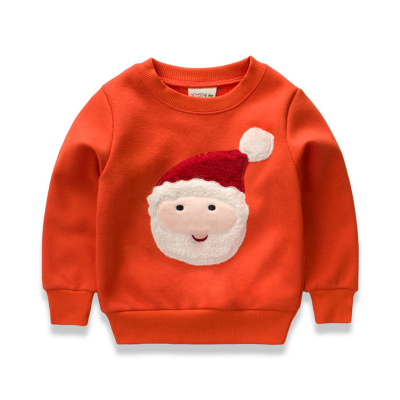 Children 's clothing autumn and winter plus velvet thickening boys and girls long sleeves Christmas wear L206