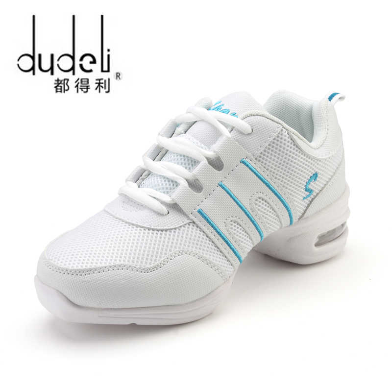 מכירה לוהטת 2020 EU35-42 ספורט תכונה רך Outsole ריקוד נשימת נעלי ספורט עבור עיסוק נעלי מודרני ריקוד ג 'אז נעליים