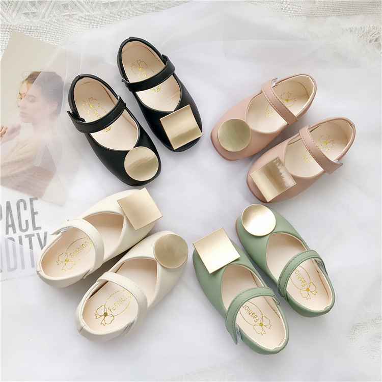 Children's Leather Shoes Pure Color Kids Shoes For Girls Autumn Little Girl Princess Baby Soft Shoe Infant Girl Grandma Shoes