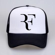 Fashion Roger Federer RF Mesh baseball cap High Quality print letter Cool Summer Baseball Net Trucker Cap Dad Hat