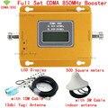 850 Repetidor de Sinal de Celular CDMA 850 mhz Móvel Amplificador de Sinal 70dB GSM 850 Impulsionador Do Telefone Celular Kit Completo com Antena + cabos