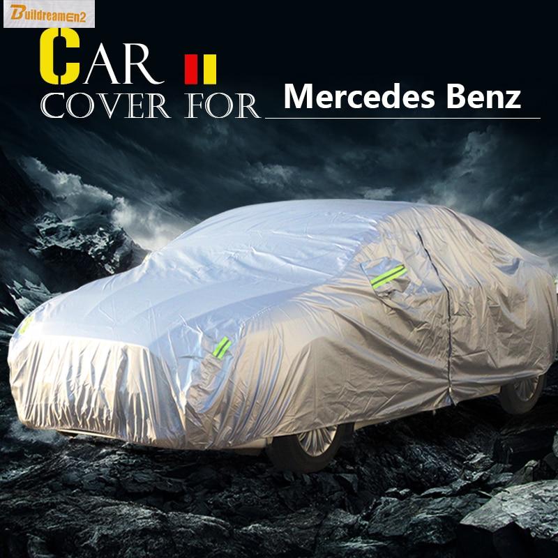 Buildreamen2 Full-Car-Cover Mercedes-Benz Sun-Snow Scratch-Resistant Rain for C160/C180/C200/..