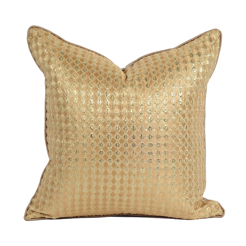 2018 creative golden cushion covers square decorative throw pillowcases home textile solid pillow case for living room sofa dec