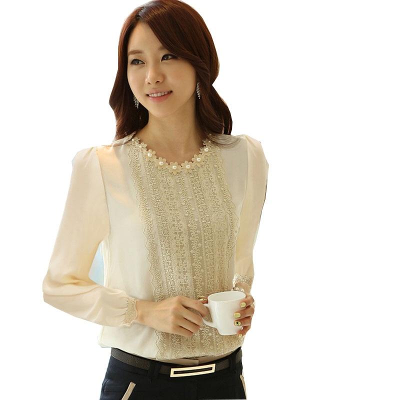 blusa social spitzenbluse frauen tops und blusen 2018 neue mode shirt - Damenbekleidung