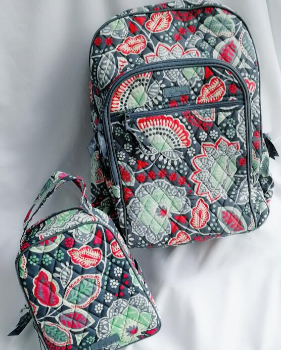 Floral Campus Backpack Set