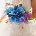 Новое поступление синий калл невесты с цветами в руках свадебный букет руки букет моделирования цветы