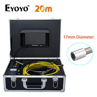 Eyoyo WP70B 7 LCD 17mm 20M CCTV CMOS 1000TVL Pipeline Drain Inspection Sewer Video Camera TFT