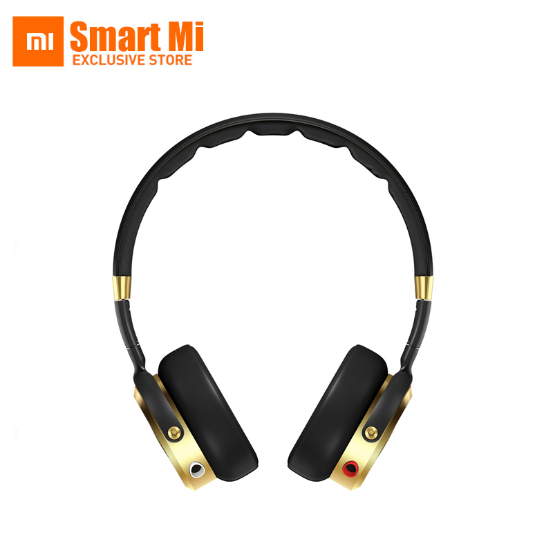 100% Original Foldable Headband Xiaomi Mi HiFi Headphone 50mm Graphene Diaphragm Stereo Earphone With Microphone Gold+Black yongle ep11 high quality stereo universal 3 5mm headband earphone w microphone cable 120cm